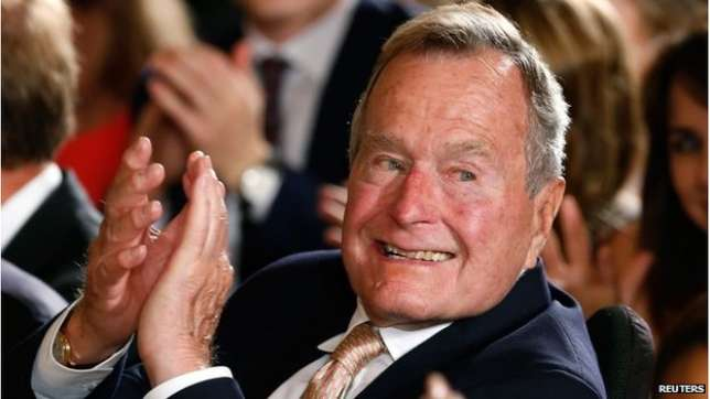 90-year-old George Bush was rushed to the Houston Methodist Hospital after experiencing shortness of breath.