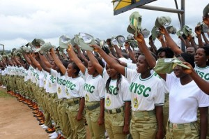 PIC 24. A CROSS SECTION OF NYSC 2012 BATCH 'B' CORPS MEMBERS  DURING THEIR  SWEARING-IN IN JOS ON WEDNESDAY (4/712)