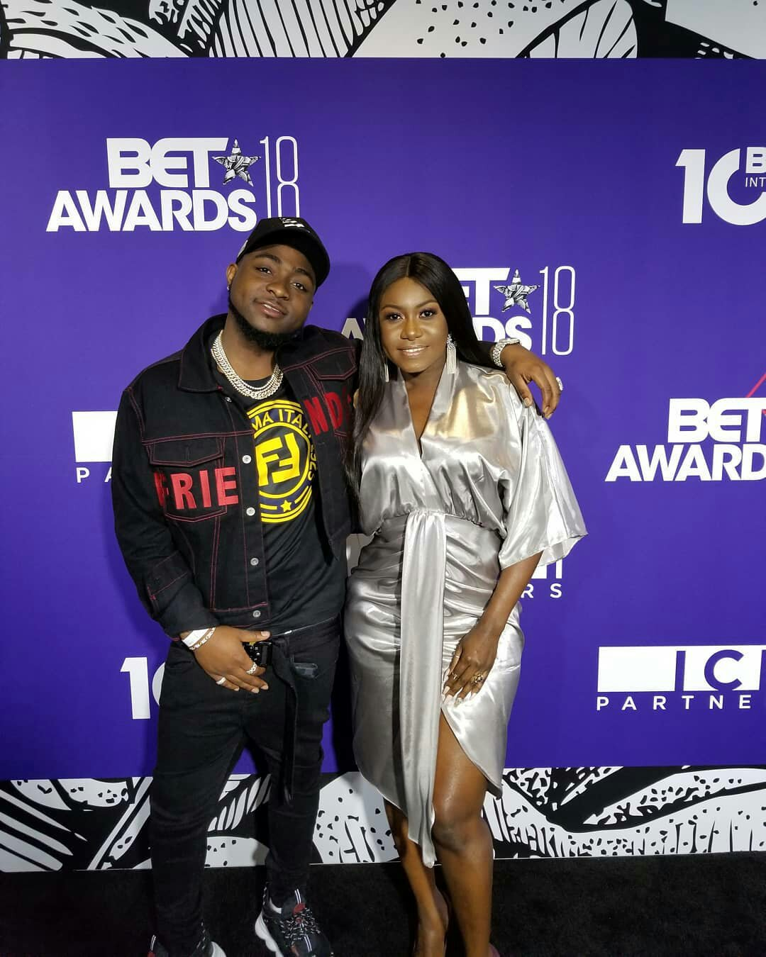 Niniola & Davido Pictured at Pre-BET Events in Los Angeles