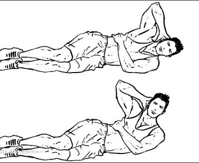 side crunch to lose belly fat