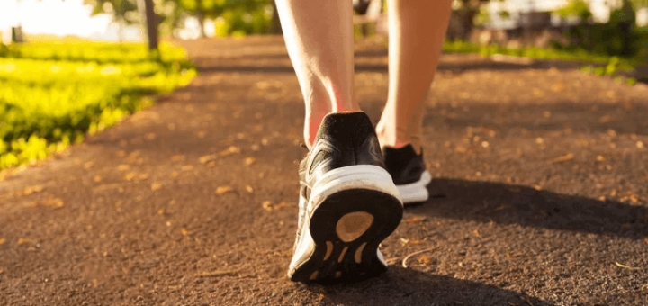 Walking - A form of cardio exercise to lose belly fat